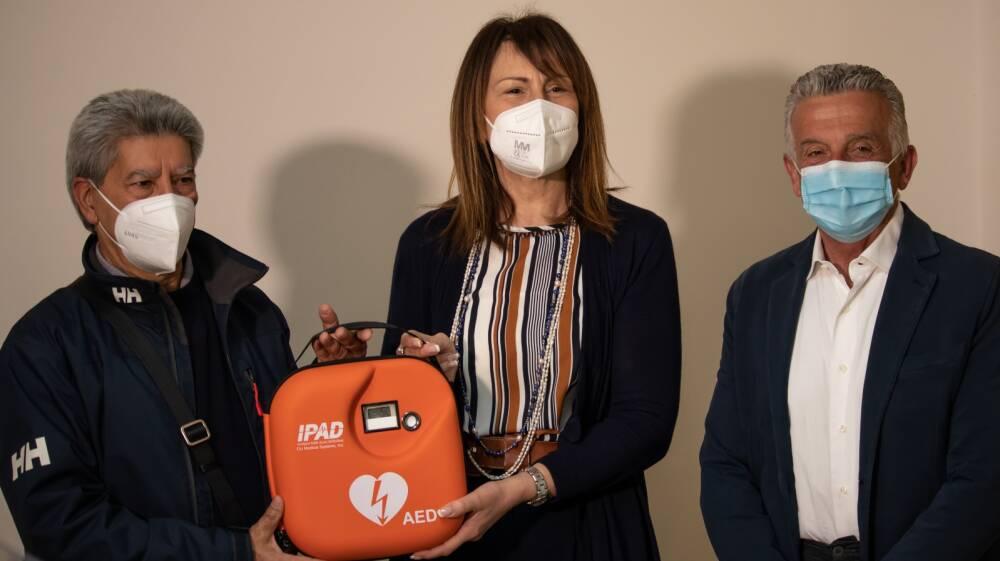 La DS riceve il defibrillatore