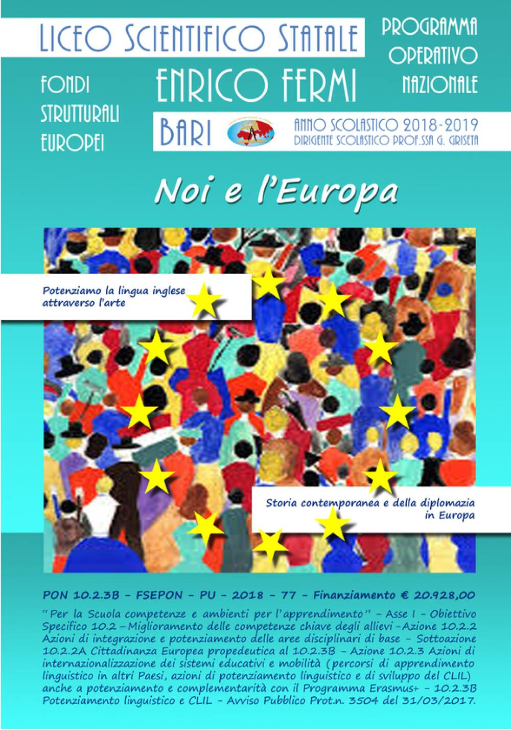 Locandina PON Noi e l'Europa