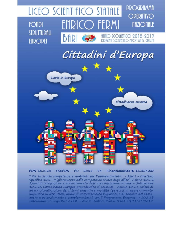 Cittadini d'Europa Locandina