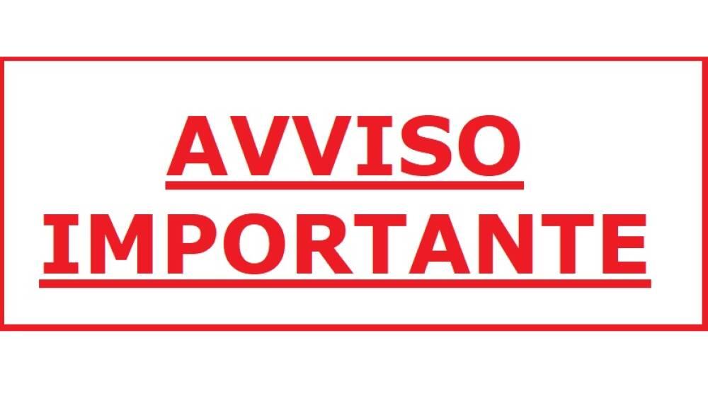 AVVISO IMPORTANTE
