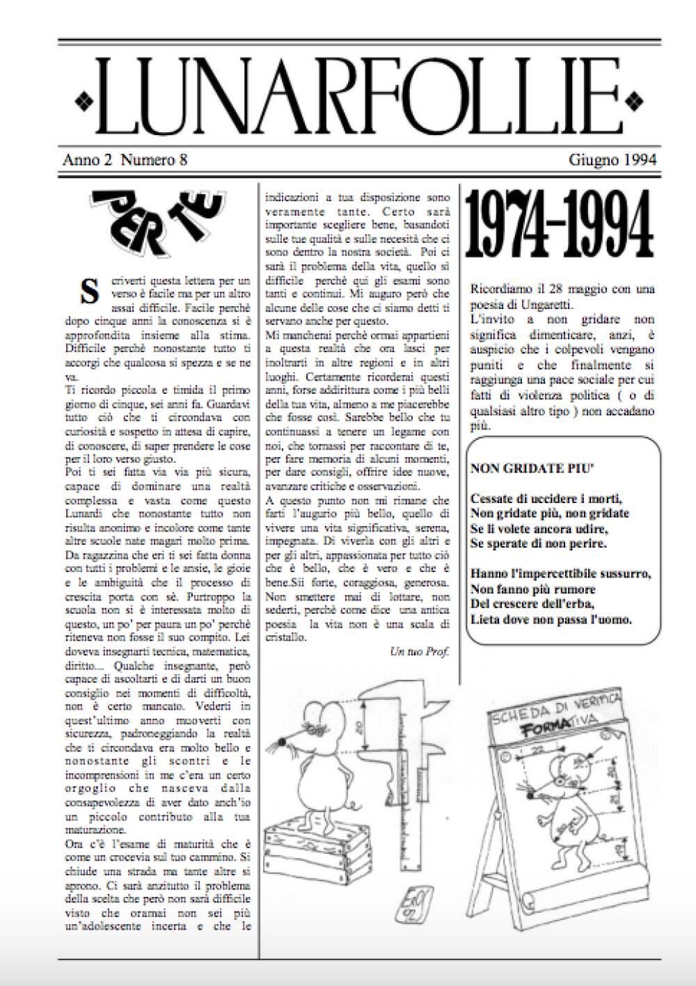 Lunarfollie giugno 1994