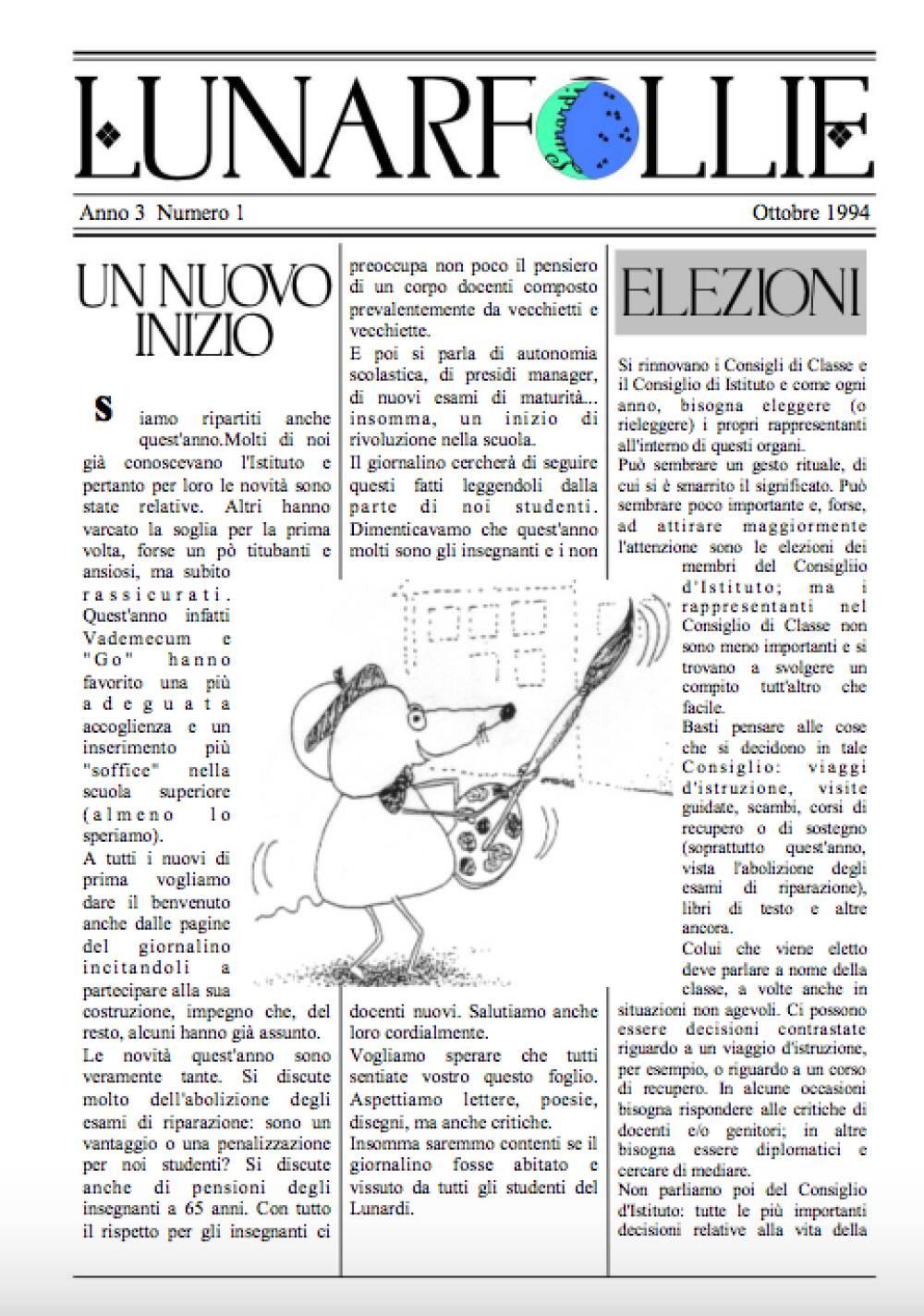 Lunarfollie ottobre 1994