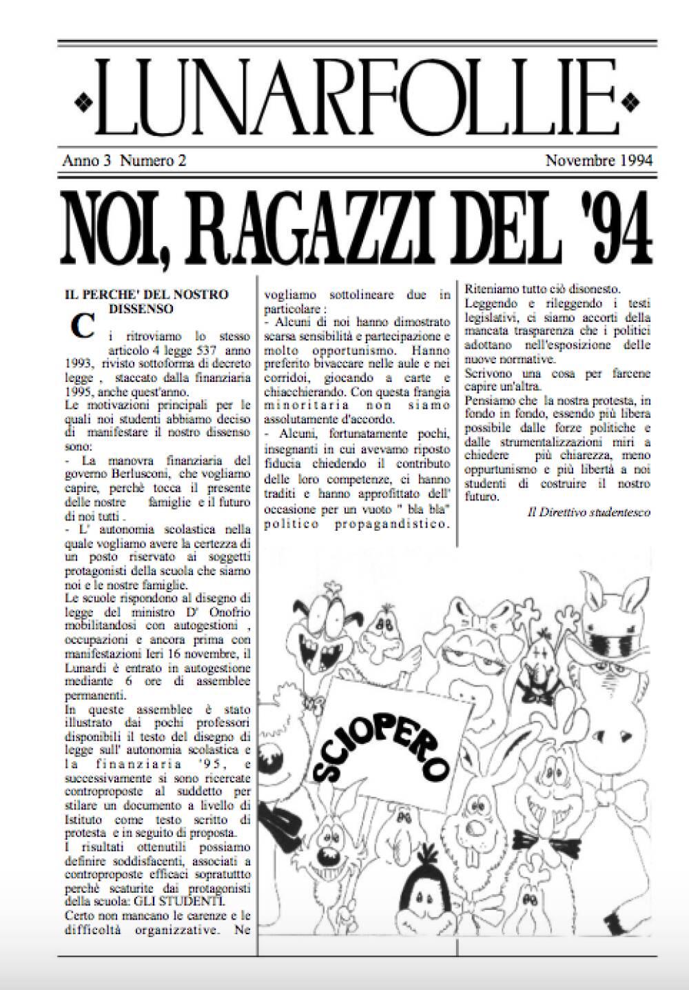Lunarfollie novembre 1994