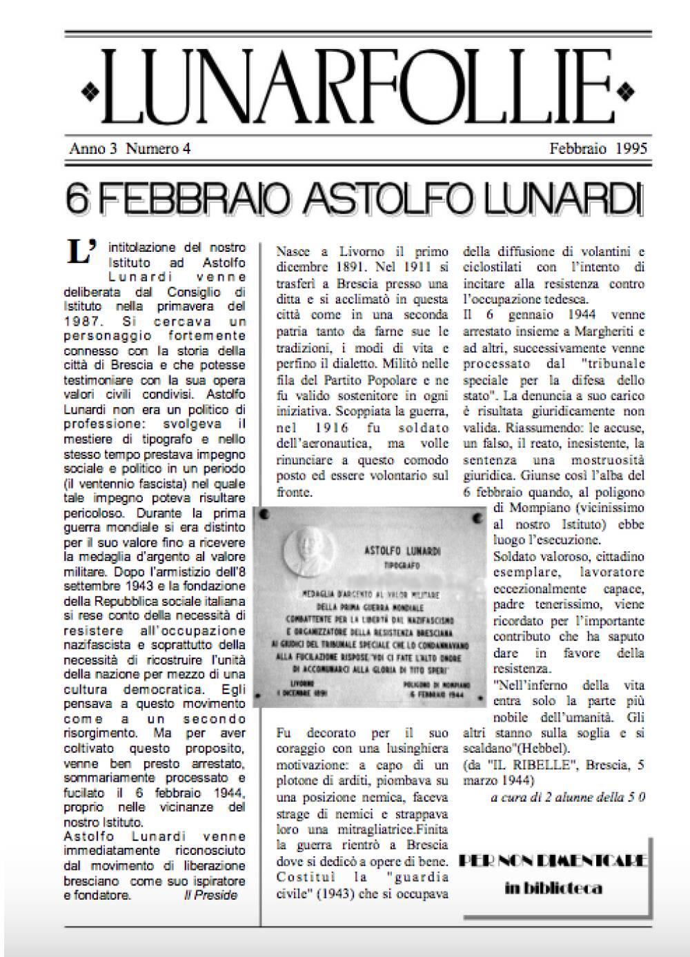 Lunarfollie febbraio 1995