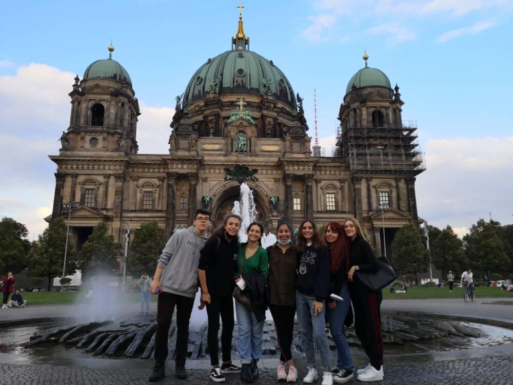 Zonera Azhar 5A and her internship collegues.Berlin. Erasmus Reheat 3.