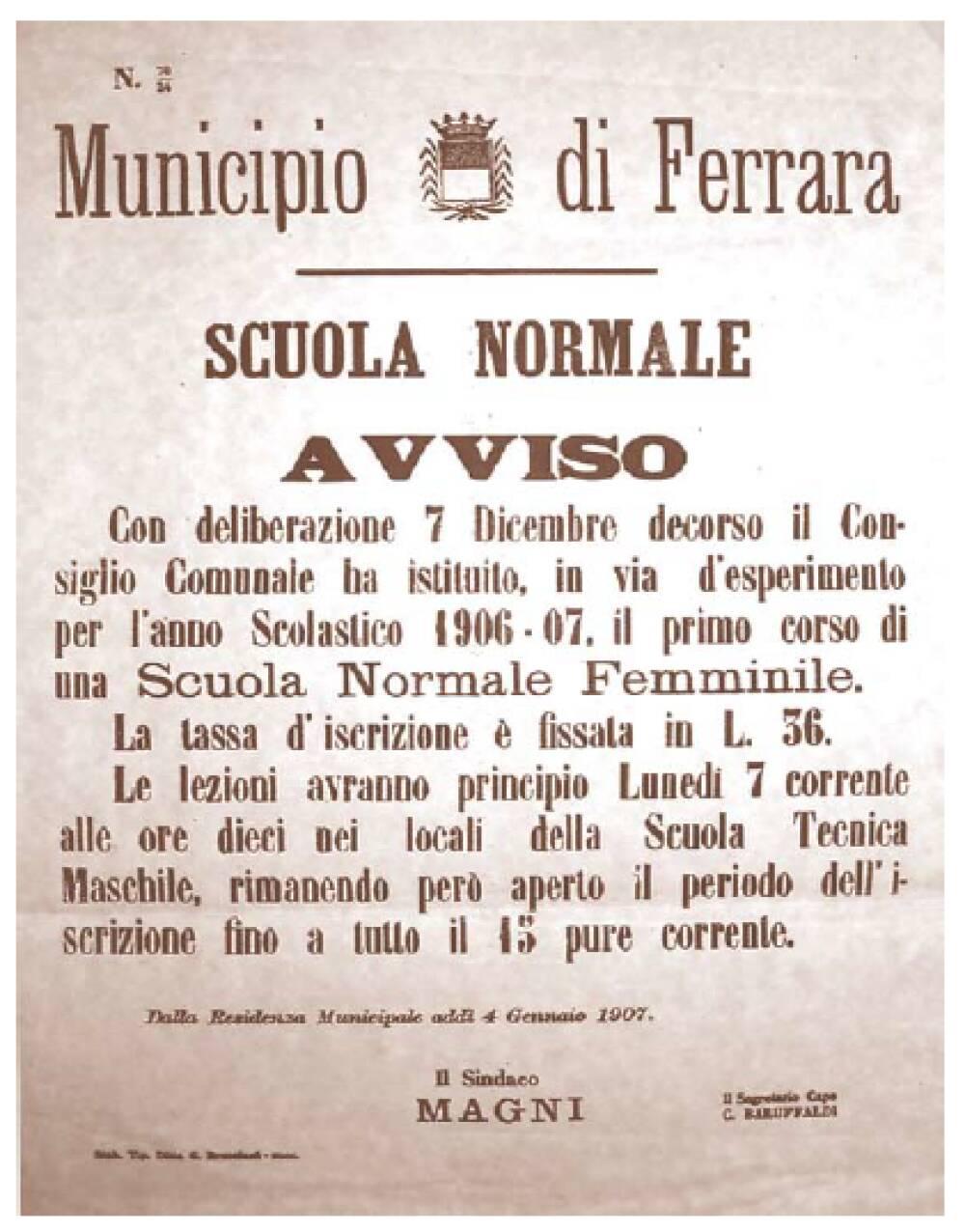 Avviso 1906-07