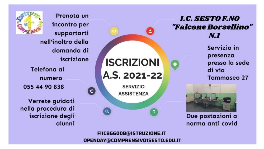 Servizio assistenza in Iscrizioni per a.s. 2021/22