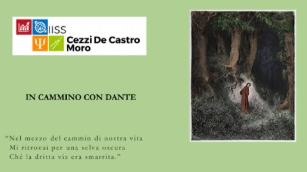 Locandina In cammino con Dante