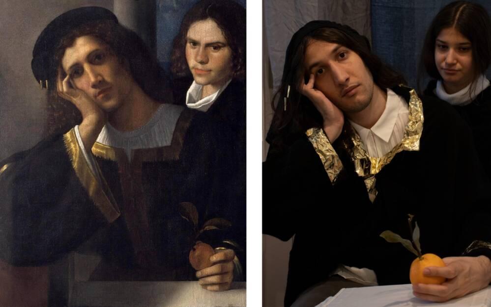 Bevacqua Ginevra versus Giorgione, Doppio ritratto