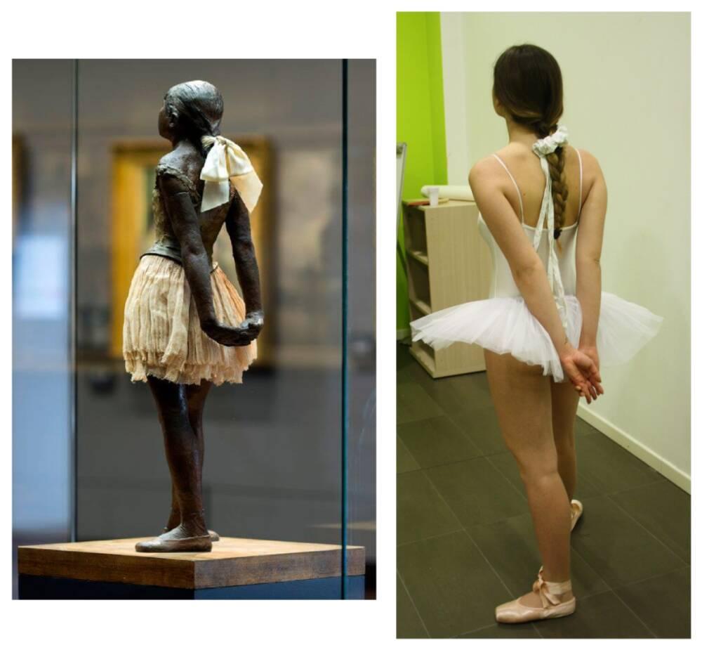 Colucci Lorena versus Degas, piccola danzatrice 4D