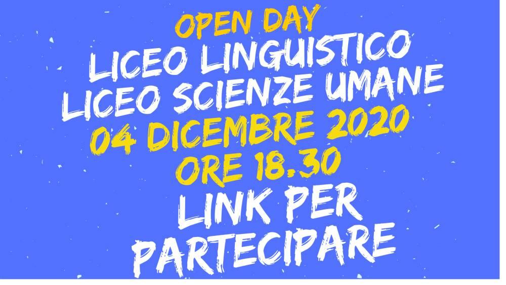 banner open day licei 04 dicembre 2020