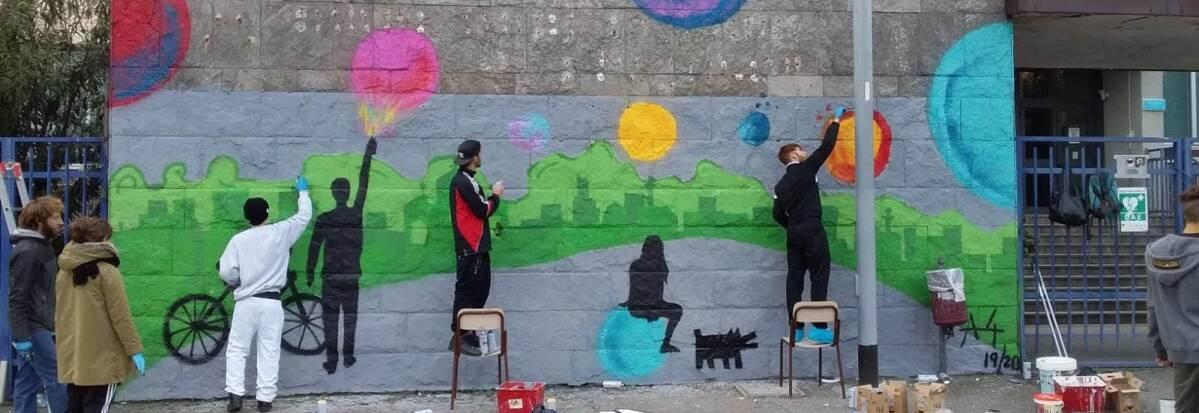 Facciata Mosè Bianchi murales