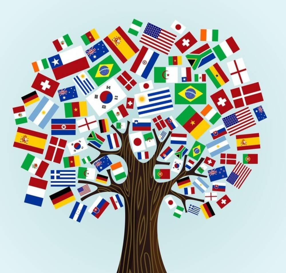 Albero bandiere europee