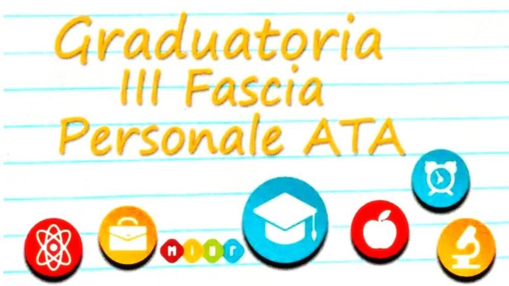 Graduatorie Provvisorie 3 Fascia ATA