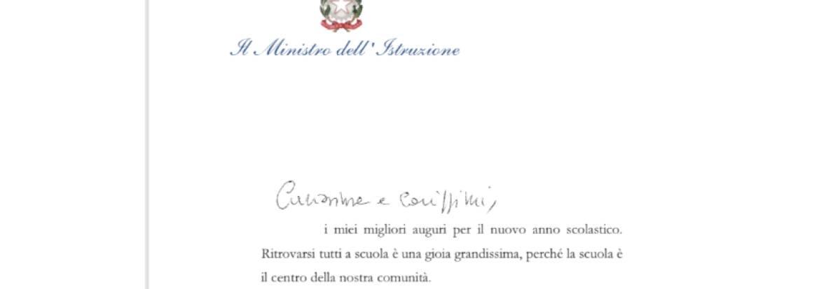 Lettera del ministro Bianchi