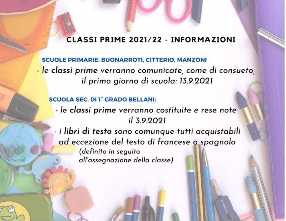 classi prime 21/22