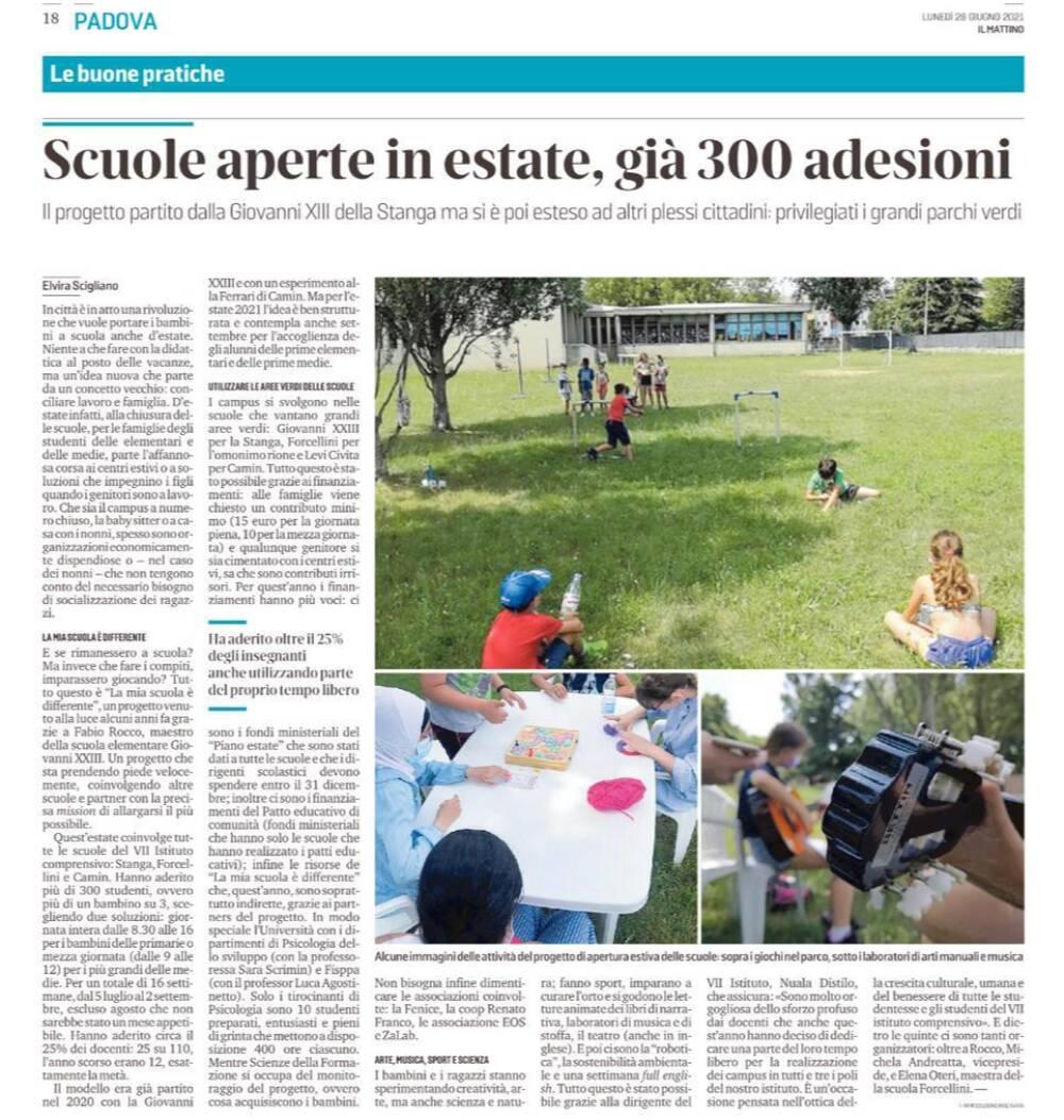 Articolo de Il Mattino