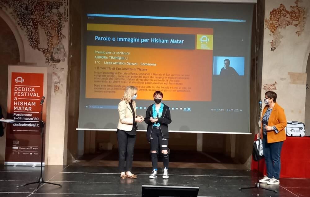 Aurora Tranquilli riceve il premio per Dedica 2020