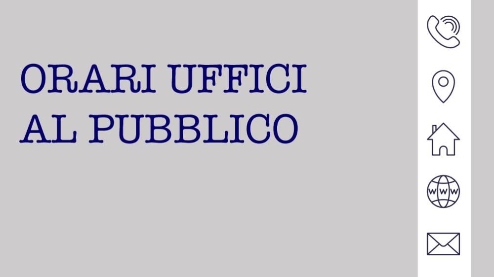 orari uffici al pubblico
