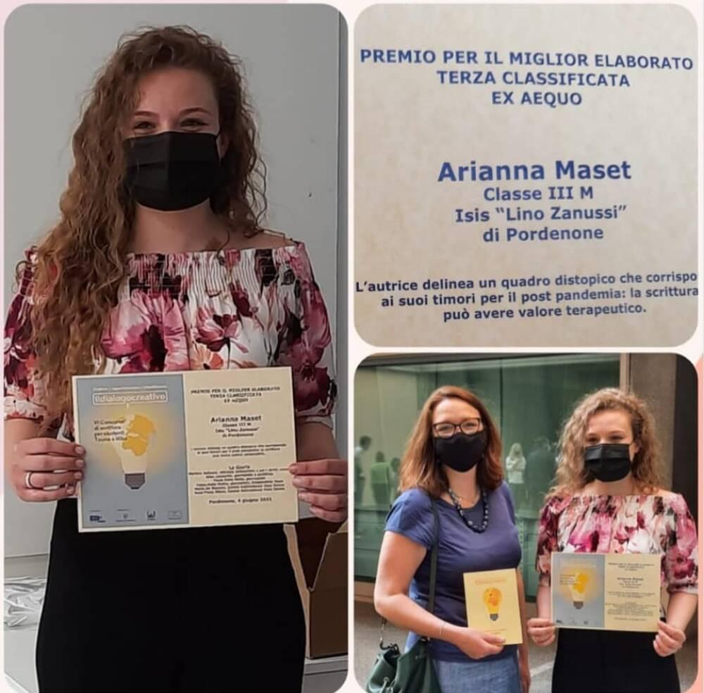 Arianna Maset terzo premio