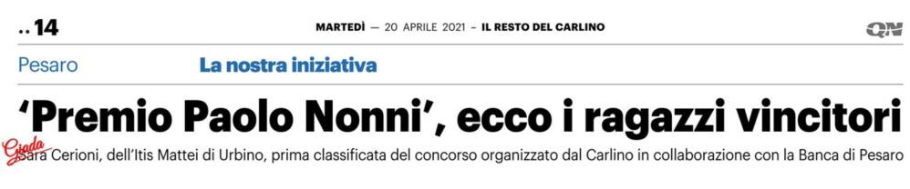 Premio 'Paolo Nonni'