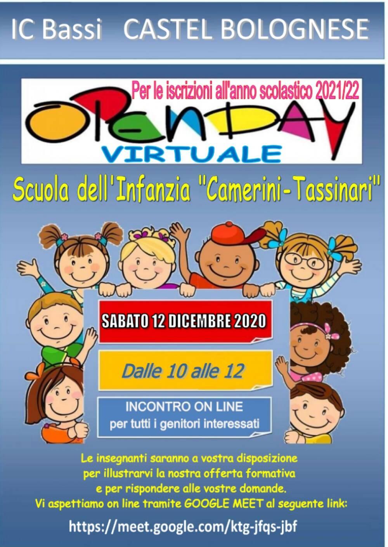 Volantino  OPEN DAY as 2021/2022