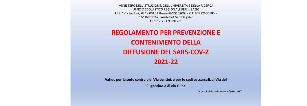 REGOLAMENTO COVID A.S. 2021/2022