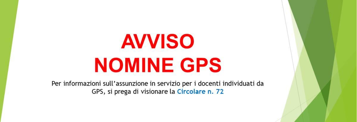 AVVISO NOMINE GPS