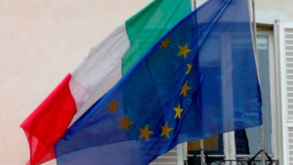 bandiere italiana ed europea