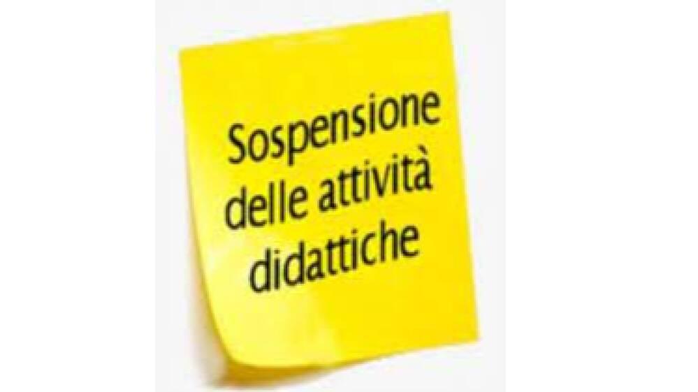 sospensione attività didattiche