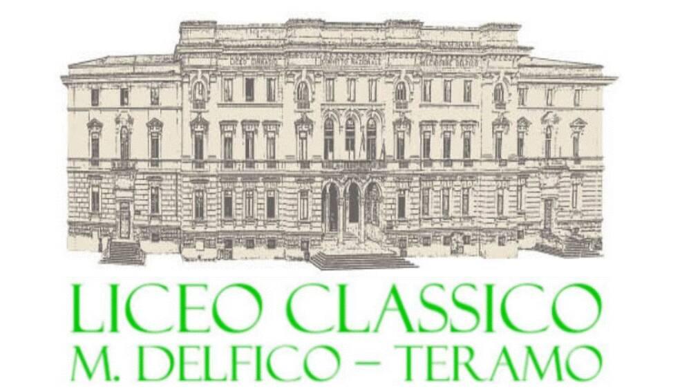 """Logo del Liceo Classico """"M. Delfico"""" di Teramo"""