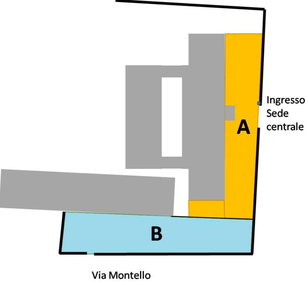 Planimetria intervalli sede di Caluso