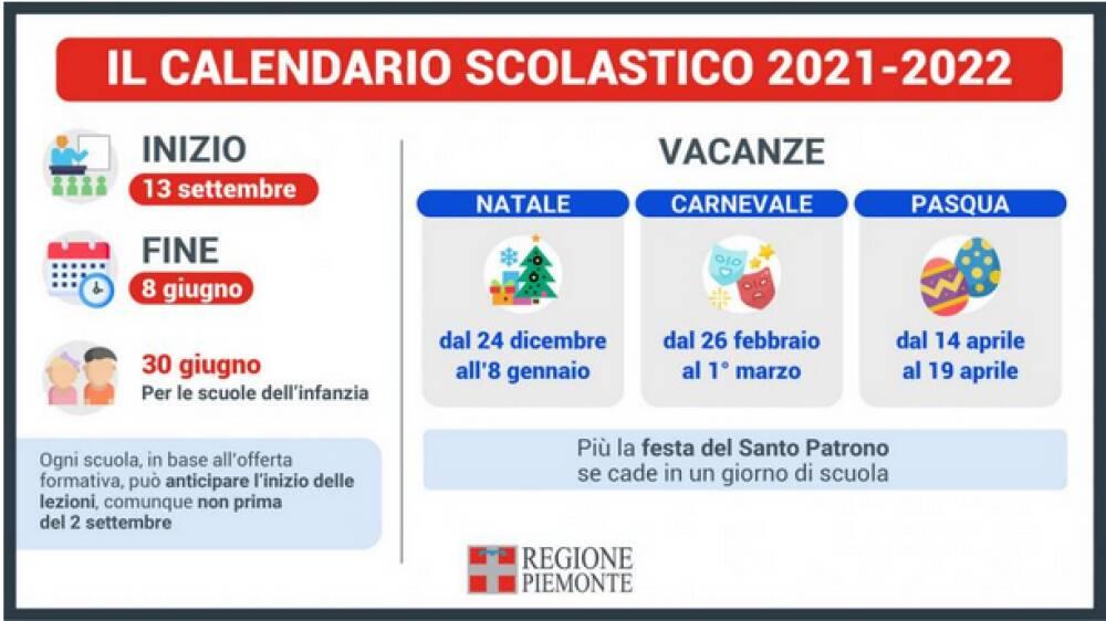 calendario regionale 2021-22