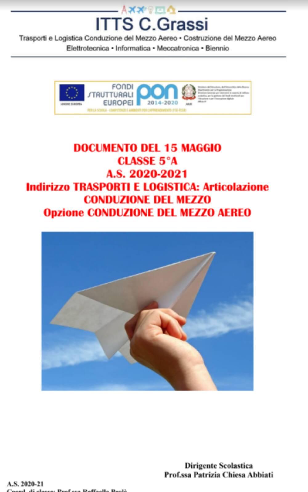 Documento 15 Maggio 5A