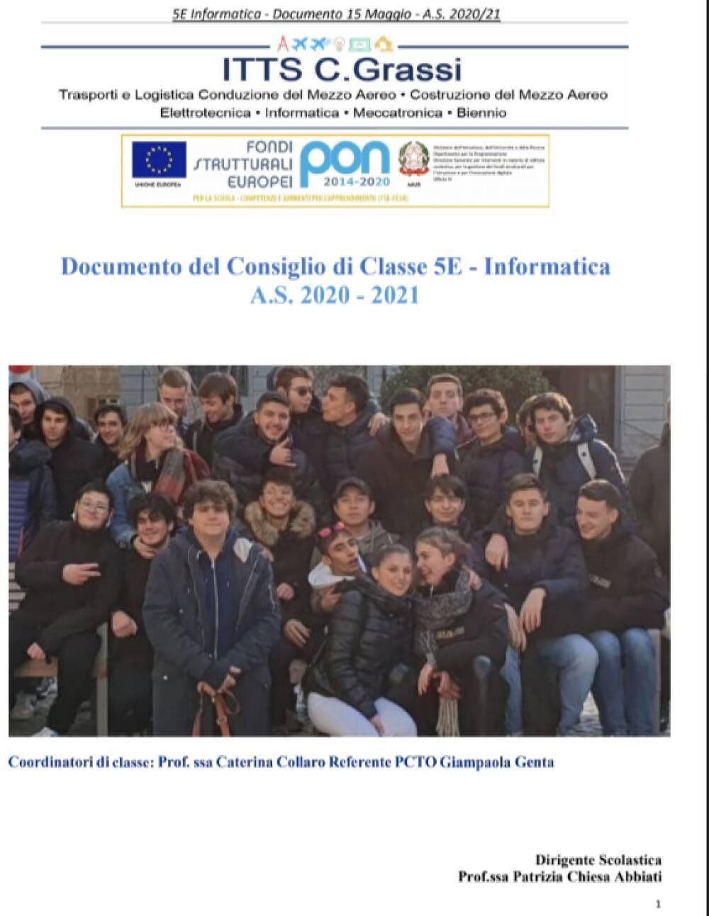 Documento 15 Maggio 5E