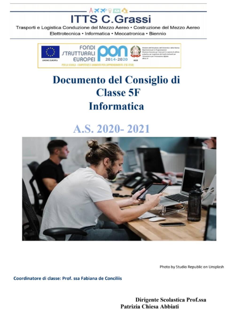 Documento 15 Maggio 5F