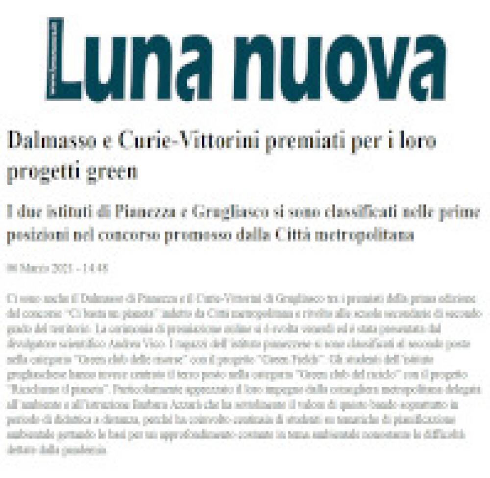 Luna Nuova 19/03/2021