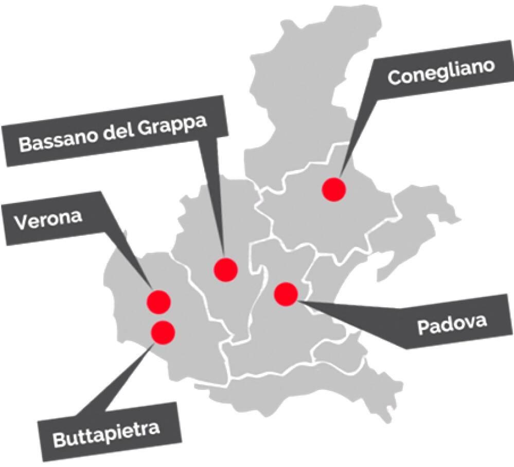 mappa agroalimentare veneto