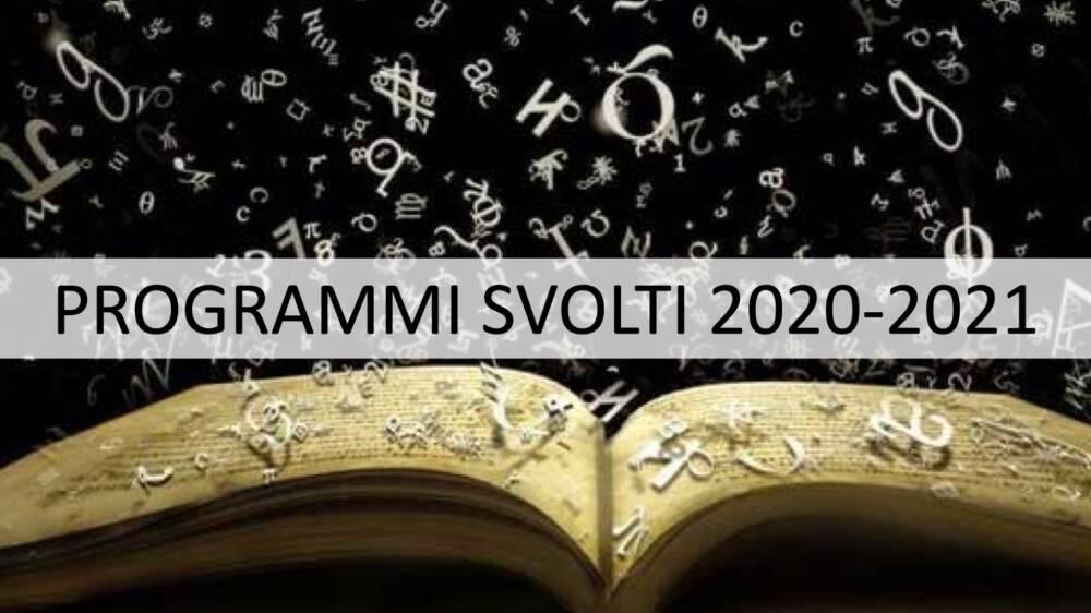 Programmi svolti 2020-2021