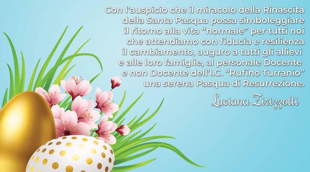 Auguri di Buona Pasqua 2021 - IC Rufino Turranio