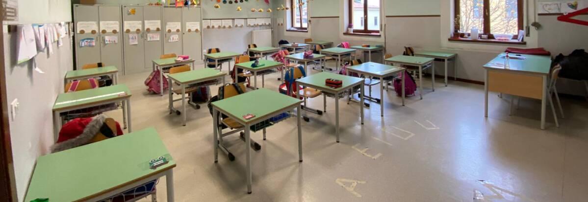 Le aule della scuola primaria Dorigo