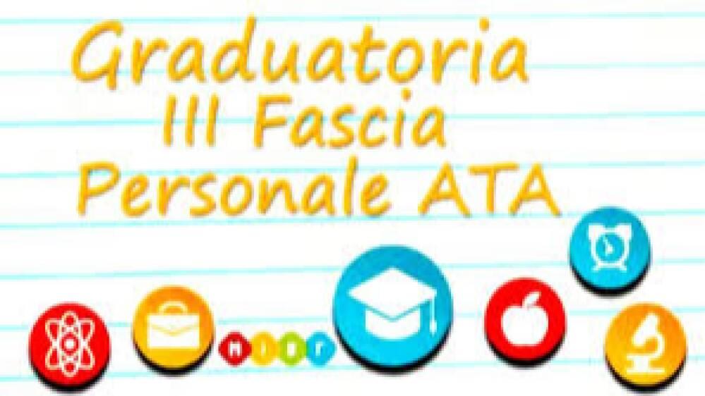Aggiornamento graduatoria 3^ fascia ATA