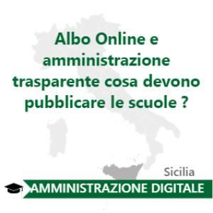 Albo Online e amministrazione trasparente cosa devono pubblicare le scuole ?