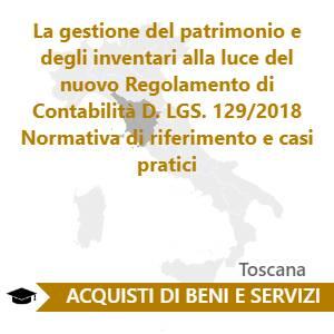 La gestione del patrimonio e degli inventari alla luce del nuovo Regolamento di Contabilità  D. LGS. 129/2018